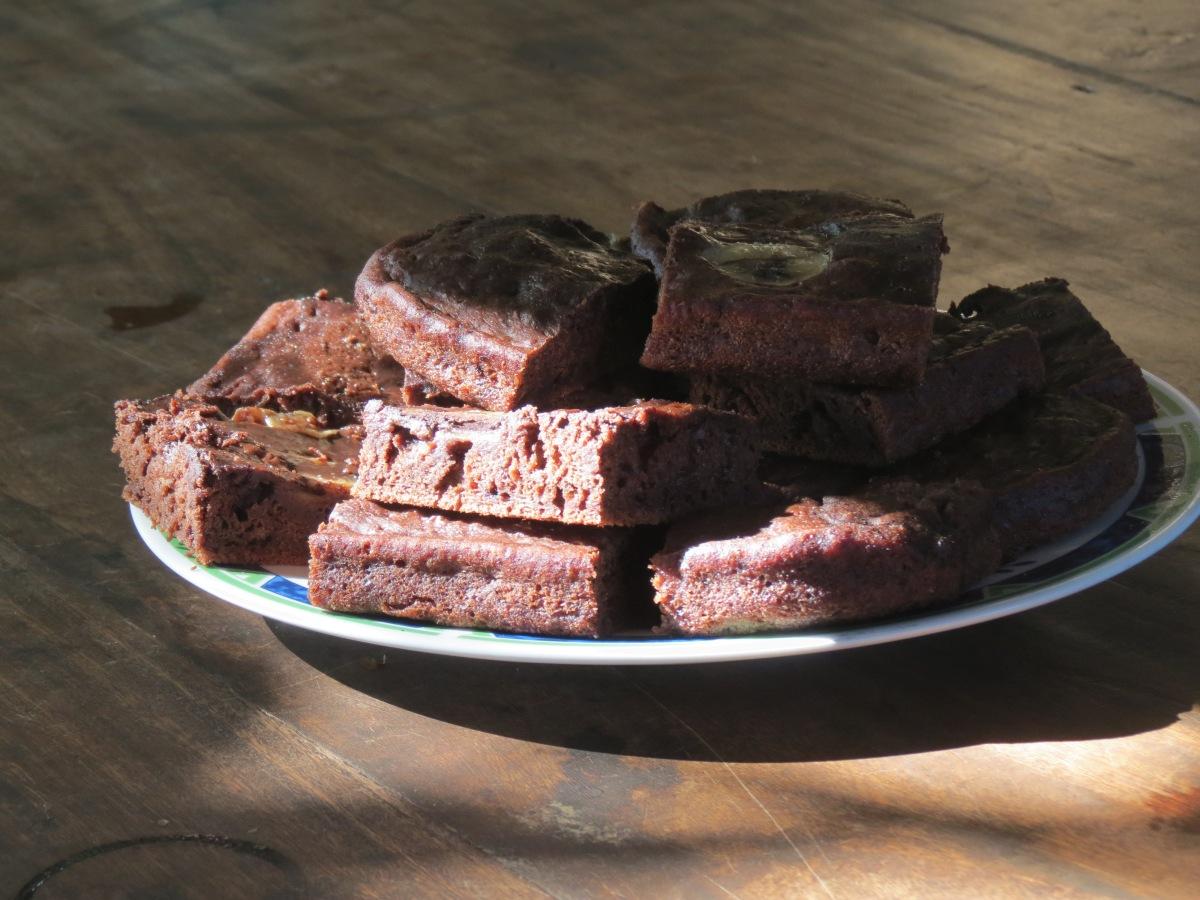 Vegan als Student: schokoladig leckere  Bananen Brownies