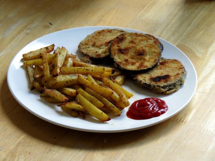 Vegan als Student : Schnitzel mitPommes